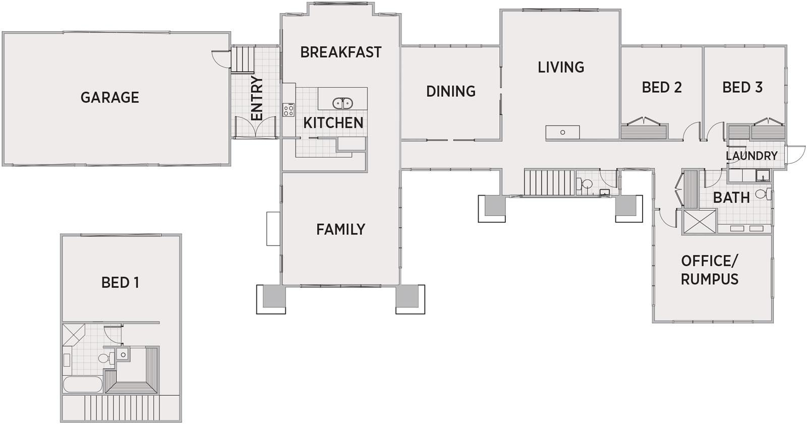 Benfield Floor Plan   Penny Homes
