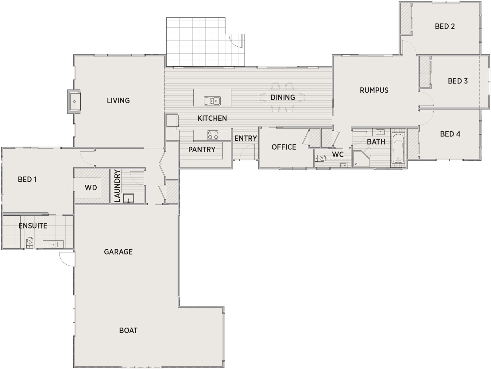 Brookside Floor Plan   Penny Homes