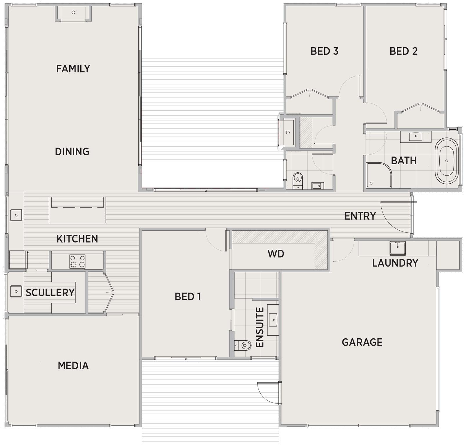 Castlerock Floor Plan | Penny Homes
