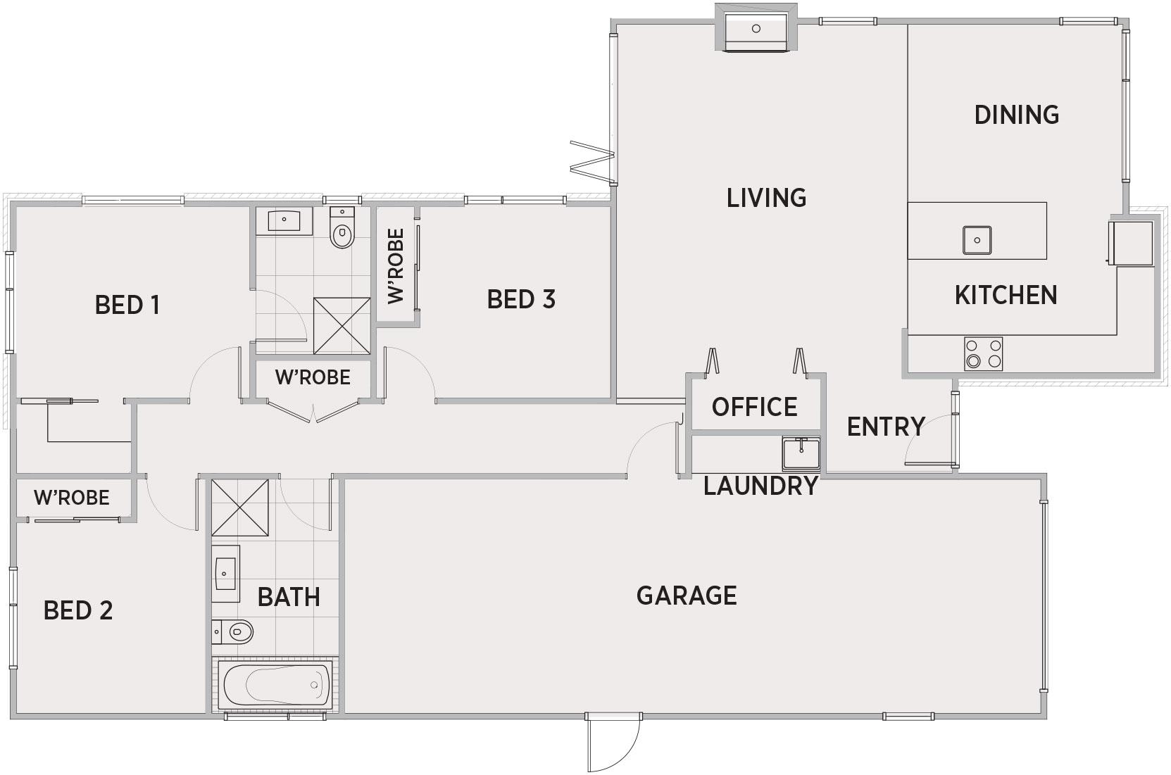 Monte Lena Floor Plan   Penny Homes