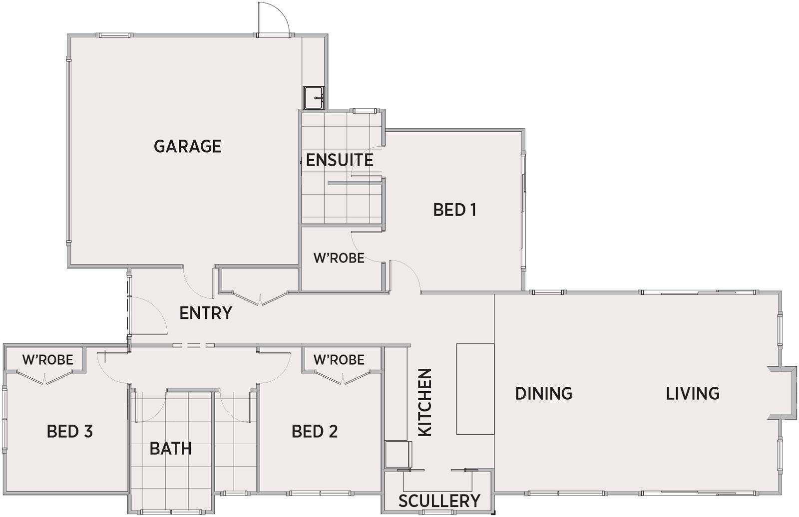 Tawhai Floor Plan | Penny Homes