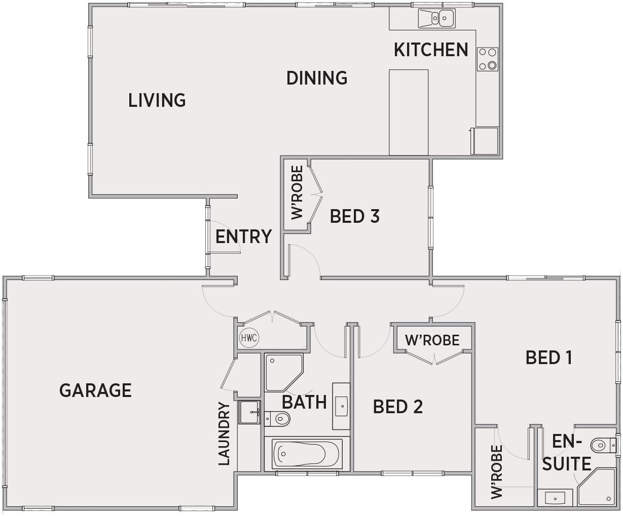 Wyndham Floor Plan   Penny Homes