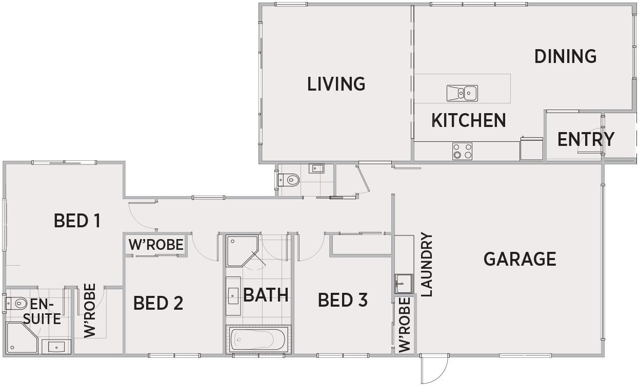 Yarra Floor Plan   Penny Homes